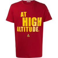 "Moncler ""At High Altitude"" Print T-Shirt - Vermelho"