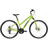 Bicicleta Merida Crossway 15 Md - Aro 700 - Freio A Disco Mecânico - Quadro 54Cm - 24 Marchas - Verde Cla/Cinza Cla