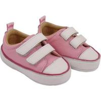 Tênis Infantil Couro Catz Calçados Noody Velcro - Unissex-Rosa Claro