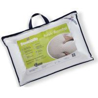 Travesseiro De Látex Basic Queen Dunlopillo C/ Capa De Fibra De Bambu 50 X 70 Cm