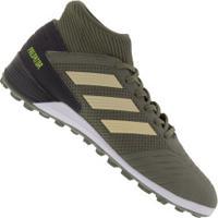 Chuteira Society Adidas Predator 19.3 Tf - Adulto - Verde Escuro