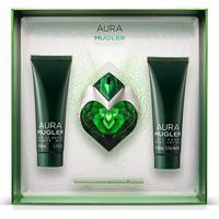 Kit Perfume Feminino Aura Thierry Mugler Edp 30Ml + Body Lotion 50Ml + Gel De Banho 50Ml - Feminino-Incolor