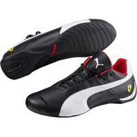 Atitude Esportes  Tênis Couro Puma Scuderia Ferrari Future Cat Og Masculino  - Masculino-Preto+Branco dc474d21eb1a4