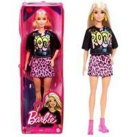Barbie Fashionista - Blusa Preta Saia Rosa Fbr37