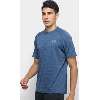 Camiseta Under Armour Tech Twist Ss Masculina - Masculino-Azul Petróleo+Azul