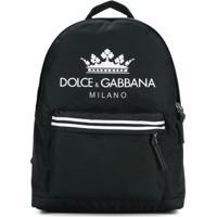 Dolce & Gabbana Kids Mochila Com Estampa De Logo - Preto