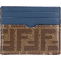 Fendi Porta Cartões Com Logo - Azul