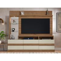 "Home Theater Para Tv Até 65"" Hórus Buriti/Off-White - Caemmun"
