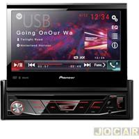 Dvd Player - Pioneer - 2 Din/Usb/Bluetooth/3 Saidas Rca/Retratil 7''/Mixtrax - Cada (Unidade) - Avh-4880Bt