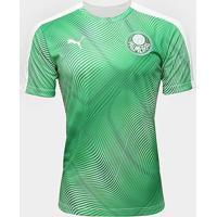 Camisa Palmeiras Pré-Jogo 20/21 Puma Masculina - Masculino-Verde+Branco