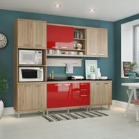 Cozinha Completa Guarinos 12 Pt 3 Gv Argila E Vermelho