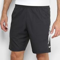 Short Nike Court Dry 9In Masculino - Masculino-Preto+Branco