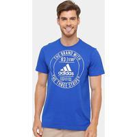 Camiseta Adidas Badge Masculina - Masculino-Azul