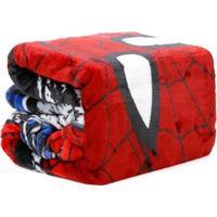 Manta Solteiro Lepper Spider-Man Vermelho