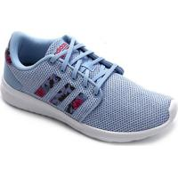 Tênis Adidas Qt Racer Feminino - Feminino-Azul Claro