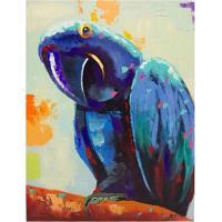 Quadro Pintura De Papagaio Colorido Fullway