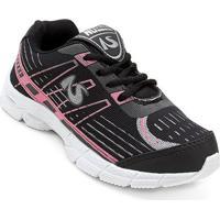 Tênis Jogging Infantil No Stress Masculino - Masculino-Pink+Preto