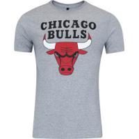 Camiseta Nba Chicago Bulls Big Logo - Masculina - Cinza