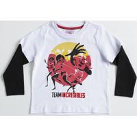 Camiseta Infantil Estampa Os Incríveis Manga Longa Disney