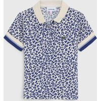 Camisa Polo Lacoste Kids Infantil Onã§A Off-White/Azul - Off White - Menina - Algodã£O - Dafiti