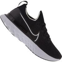 Tênis Nike React Infinity Run Fk - Feminino - Preto/Branco