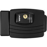 Fechadura Eletrônica Agl Ultra Card, 42Mm, Chave Digital, Alarme De Porta Aberta, Chave Manual, Preto - 1011004
