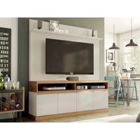"Home Theater Para Tv Ate 55"" Concorde Off-White/Buriti-Líder Design"