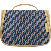 Nécessaire De Viagem - Azul Marinho & Bege - 17X22X1Jacki Design