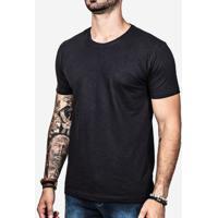 Camiseta Básica Meia Malha Preto 0198
