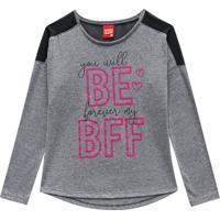 Blusa ''Bff''- Cinza & Rosakyly