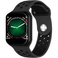 Relógio Smartwatch F8 Monitor Cardíaco Preto