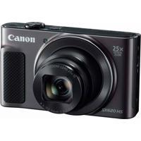 "Câmera Powershot 20.2Mp 3.0"" Wi-Fi/Nfc Preta Canon Sx620Hs"