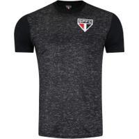 Camiseta Do São Paulo Mescla 18 - Masculina - Preto Mescla