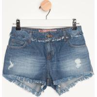 Short Jeans Desfiado- Azulcolcci