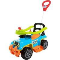 Carrinho De Passeio Infantil Jip Jip Com Empurrador - Unissex-Azul+Laranja