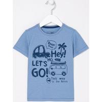 Camiseta Infantil Estampa De Carros - Tam 1 A 4 Anos