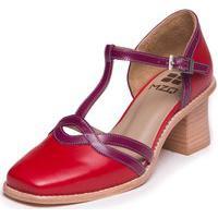 Sapato Mzq Vermelho Retrô - Vermelho / Uva 9301