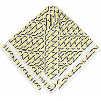 Kenzo Lenço De Seda Com Estampa De Logo - Amarelo