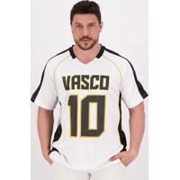 Camiseta Vasco Futebol Americano Branca E Preta