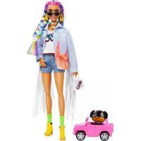 Boneca Barbie Fashionista Extra Tranças De Arco Íris