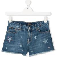 Ralph Lauren Kids Bermuda Jeans Com Estampa De Estrela - Azul