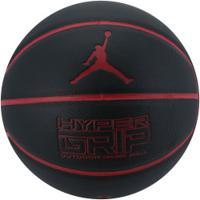 Bola De Basquete Nike Jordan Hyper Grip 4P - Preto/Vermelho