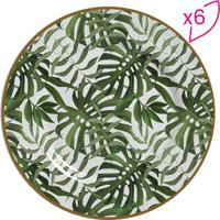 Conjunto De Pratos Para Sobremesa Folhagem- Verde Escuroscalla Cerâmica