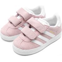 Tênis Couro Adidas Menina Gazelle Cf I Rosa