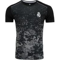 Camiseta Real Madrid Leyenda - Masculina - Preto
