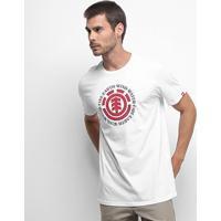 Camiseta Element Seal Masculina - Masculino-Branco