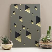 Placa Decorativa - Gold Diagonal