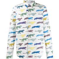 Ps Paul Smith Camisa Com Estampa Tiger - Branco