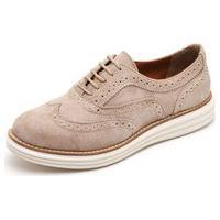 Sapato Casual Oxford Yes Basic 300 Areia