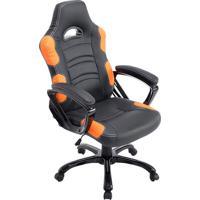 Cadeira Office Flash- Preta & Laranja- 126X65X65Cmrivatti